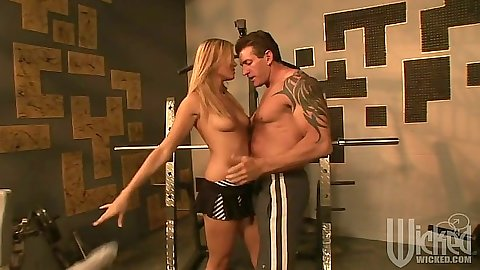Gym sexie fun with Angelina Armani getting cock workout