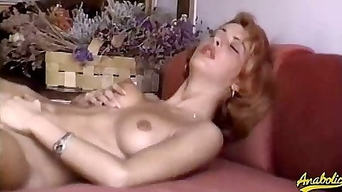 Moaning natural tits girl and blowjob with house close up