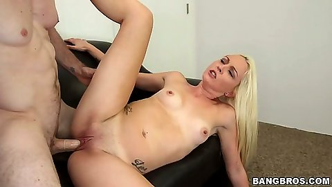 Ashley Stone blonde first sex video audition sex with banging