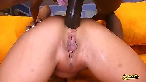 Anal doggy style interracial with Summer Storm from all angles
