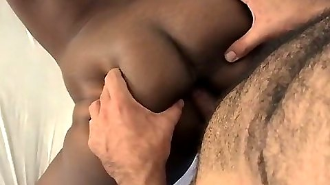 Sexy ebony chick Vanessa with big ass and big natural tits anal fuck