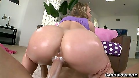 Ass oiled up in pov fuck with big round Madison Chandler