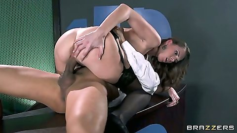 Jennifer Dark cowgirl table fuck with naughty secretary