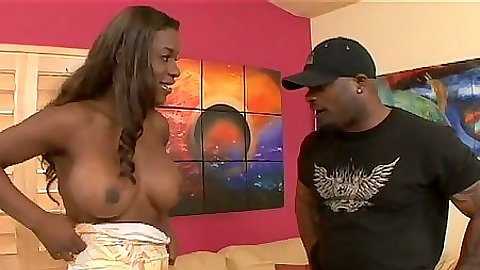 Bit tits ebony black girl Milan Sterling stripping down