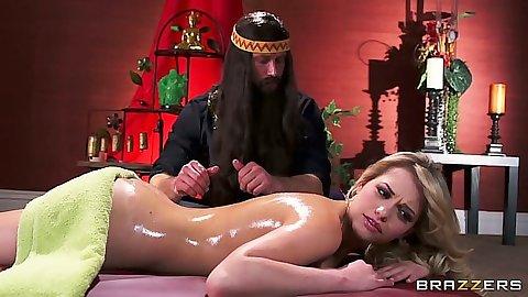 Nice oil massage with smooth ass Mia Malkova