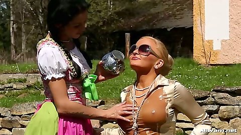 Oiled up nice round tits in clothes and wet shirts Adel Sunshine and Jenna Lovely