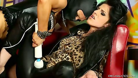 Fetish lesbian femdom sex toys and usages with Jenna Lovely