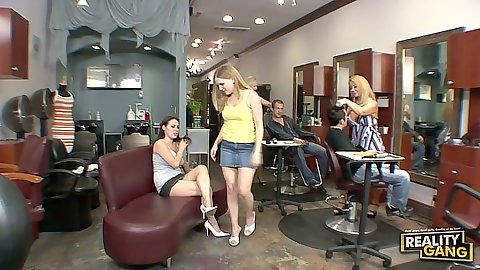 Milf group with Tyra Love and Lily Lovely adn Laci Laine decide what to do