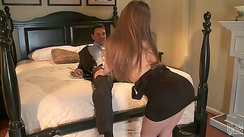 Brunette sd undressing and showing hairy but trimmed pussy