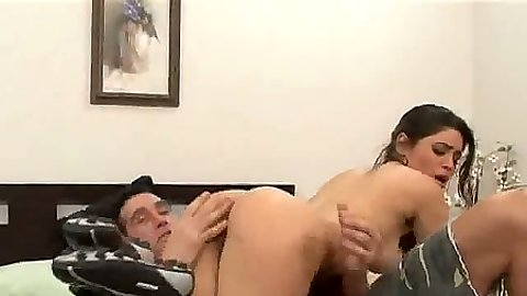 Nice ass brunette Paola Rey goes for blowjob in 69 position