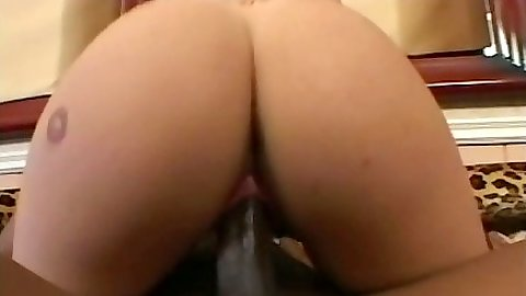 Cowgirl nice white ass slut Katrina riding cock in interracial