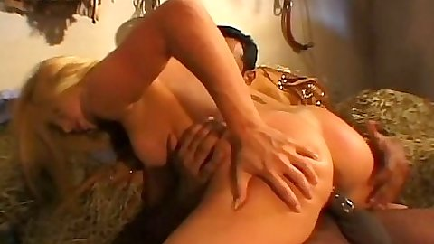 Latia ho spreading her ass on big dick in interracial