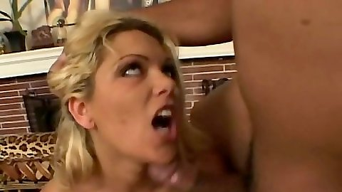 Interracial blowjob from blonde big tits Ana Nova