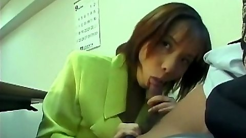 Asian office blowjob with Japanese work slut
