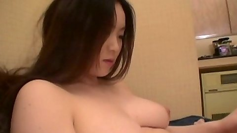 Asian big tits blowjob with pov shot