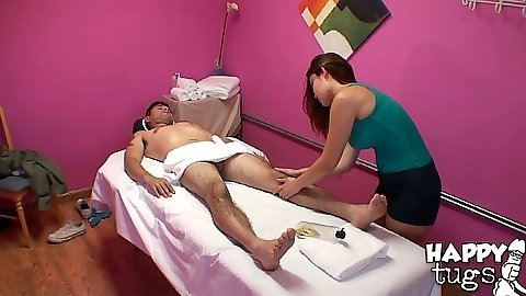 Asian massage with cfnm Gina