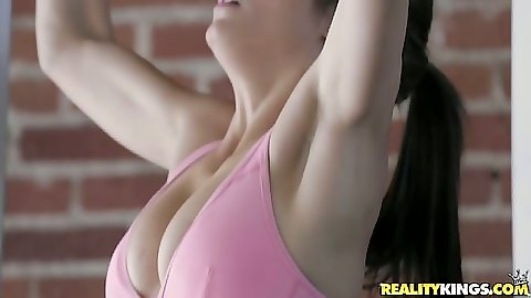 Malena Morgan and Alyssa Reece athletic big tits lesbian babes Alyssa Reece and Malena Morgan