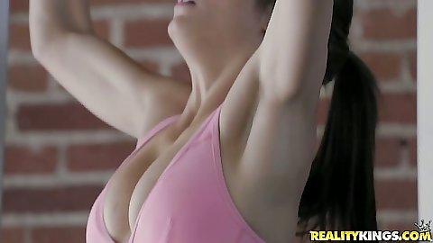 Malena Morgan and Alyssa Reece athletic big tits lesbian babes Alyssa Reece and Malena Morgan