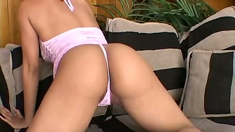 Nice panties and ebony blowjob with Chyanne Jacobs in lingerie