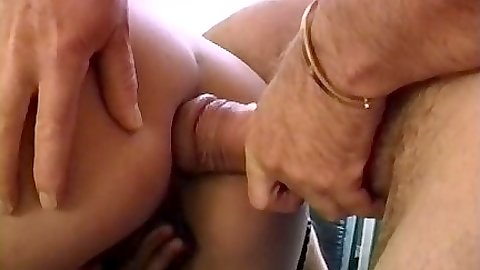 Anal close up entry with licking dirty penis after