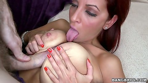 Titty fuck for big tits Jazmyn and close up sex