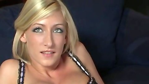 Blonde Nadia Hilton gets her pussy spread and tongue worked