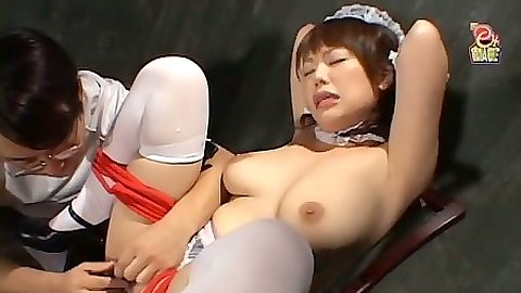Asian busty girl fetish bondage and prison violation