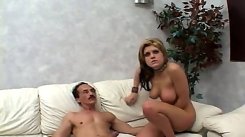 Nice busty blonde Tyla Wynn sits naked and chatts