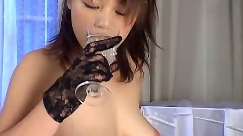 Asian natural tits dirty nurse in lingerie blowjob