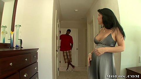 Milf gets her new large black cock to come over