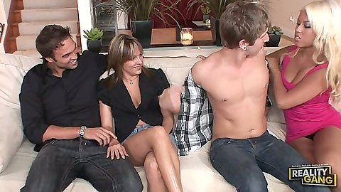 Milf group wife swap foursome with Bridgette B and Lexi Love
