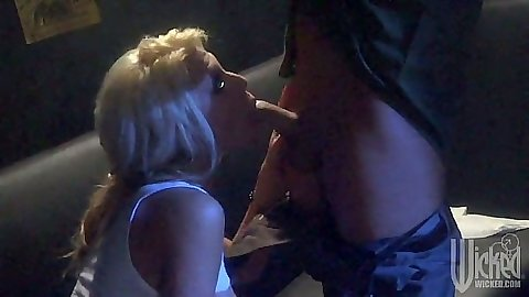 Blonde blowjob with Tanya James at night
