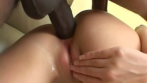 Anal doggy style close up view with interracial pounding for Tiffany Rayne
