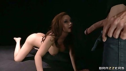 Milf Diamond Foxxx crawling for a pov big dick suck