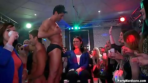 Party cfnm amateur blowjob and dancing fun
