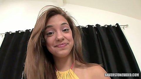 Latina teen Gigi Rivera chats and sucks pov dick