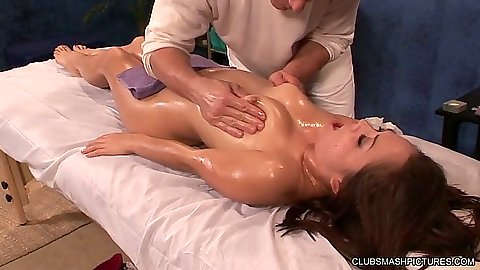 Oil sexy massage with natural tits and ass Kristina Rose