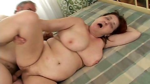 Old and mature granny couple fuck with fat Faun and Ivona