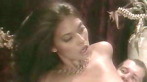 Sexy vintage babe big tits Tera Patrick sits on dick