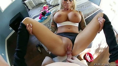 Pov front pulled aside panties milf penetration with Lolly Ink