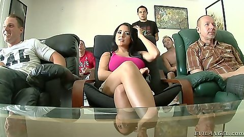 Group latina Penelope Piper gets teamed up and gang bang