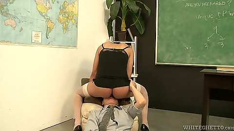Transsexual Kida Johana sitting on mans face with footjob