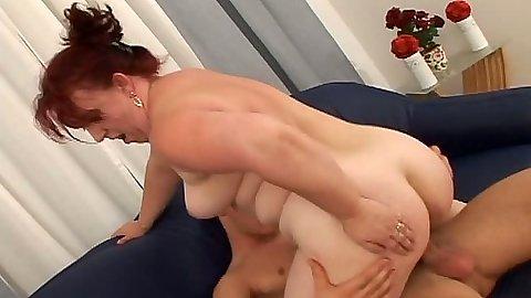 Riding cock mature redhead Jana E