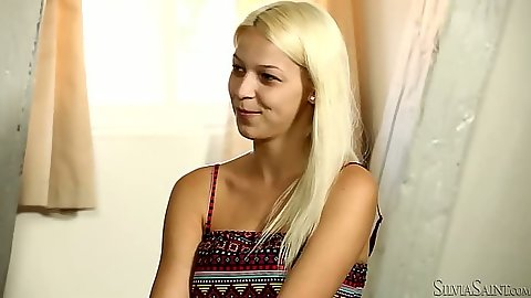 Blonde teen Karol C talks about her sexual preferance
