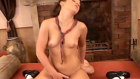 Riding cock school girl Gloria loves dick