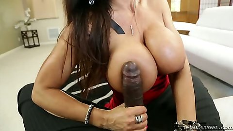 Big black cock pov milf blowjob with Lisa Ann