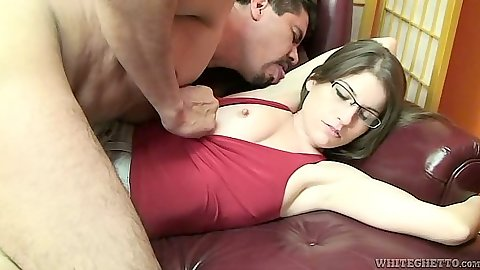 Teen Dolly Dagger wearing glasses and a miniskirt get felt up