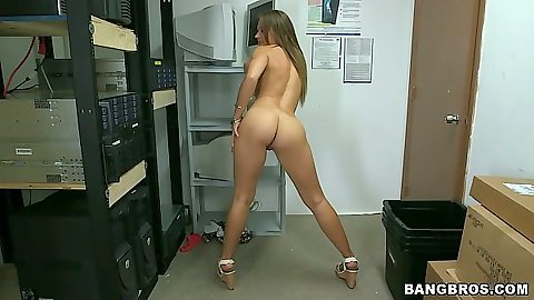 Stripped naked girl on her first sex video casting scene with Callie Calypso