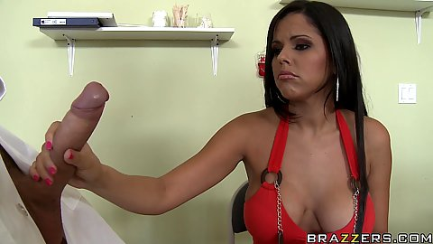 Pornstar waits no more and gets on her knees for the cock