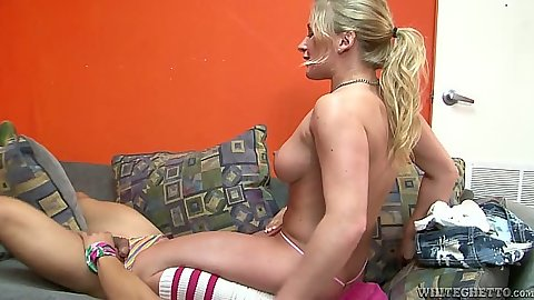 Cock sucking and biting cock from busty blonde Dia Zerva